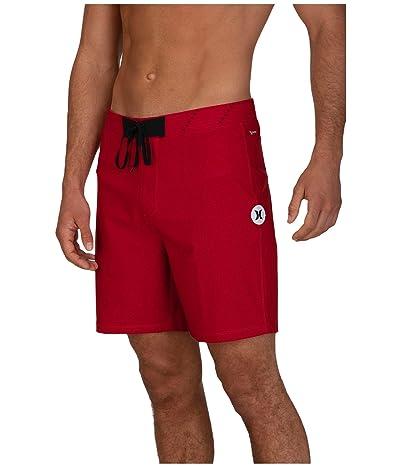 Hurley 18 Phantom Hyperweave Solid Boardshorts (Gym Red) Men