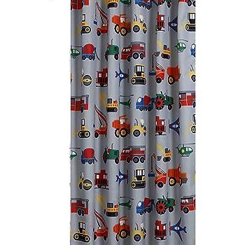 Ltd DBA JLA Home Mi-Zone Mizone MZK70-091 Kids Totally Transit Printed Shower Curtain 72x72 Multi E/&E Co