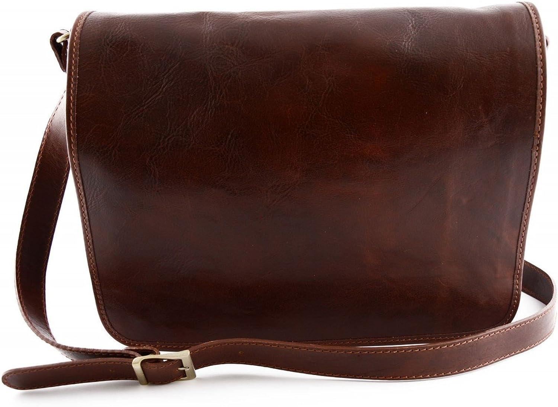 Dream Leather Bags Made in  toskanische echte Ledertaschen Herren Herren Herren Messenger Ledertasche Farbe Braun - Italienische Lederwaren - Herrentasche B015II6P16 7f5b90