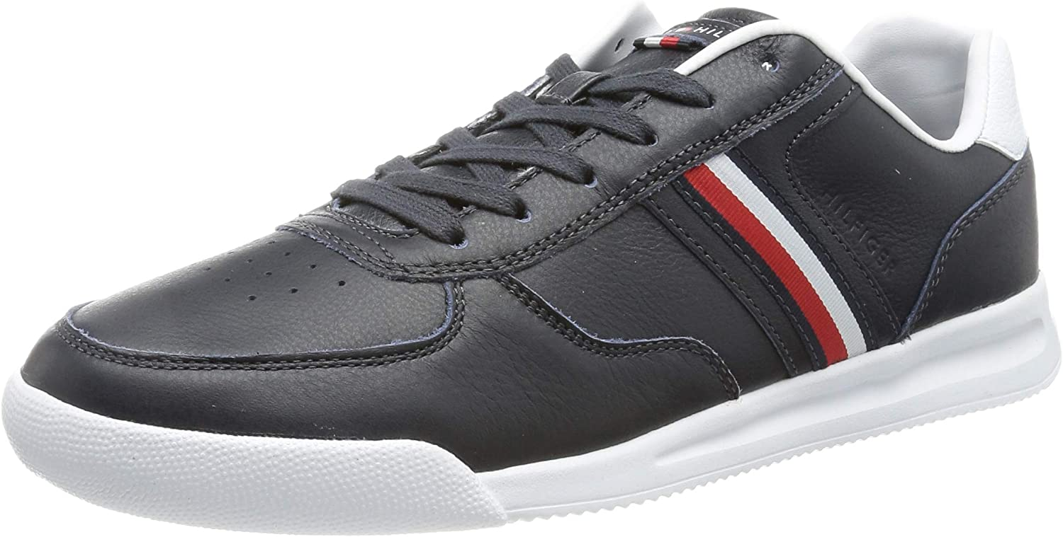 Tommy Hilfiger Lightweight Leather Sneaker Flag, Zapatillas Hombre