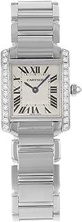 Tank Francaise 18kt White Gold Diamond Ladies Watch WE1002S3