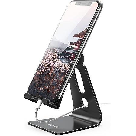 [Amazonブランド] Eono(イオーノ) - スマホスタンド スマホホルダー 角度調整可能, 充電スタンド 卓上: スマートフォン 横 縦 充電台, 安定 滑り止め アルミ製, 携帯スタンド デスク, アイフォン, スイッチ, iphone 12 11 Pro Max XS XR X 8 plus 7 6s, Switch/ Sony Xperia/ Nexus/ Kindle/ Xiaomi/ Huawei/ Galaxy Note 8 9 10/ Android など4-8インチに対応