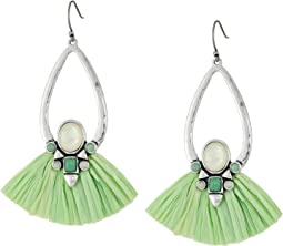 Set Stone Raffia Earrings