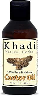 Khadi Natural Herbal Organic Cold Pressed Pure and Natural Castor Oil 100 ml
