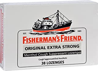 Fisherman's Friend Lozenges - Original Extra Strong - Cough Suppressant - 38 Count Each - Case of 6