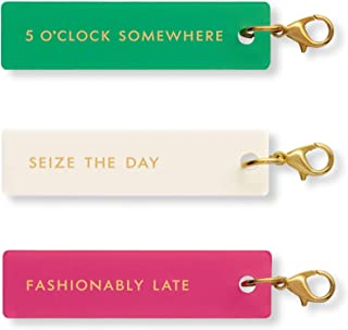 Kate Spade New York Planner Accessories Charm Set of 3, Fashionably Late