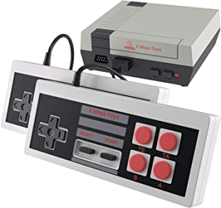 Brick Retro Game Console By Emass- 620 Built-in FC Classic Video Games- AV Output- TV Connectable- Two Player Mode- Two Sensitive Joysticks- Ideal Gift Option for Kids and Adults- Promotes Parent-Chil