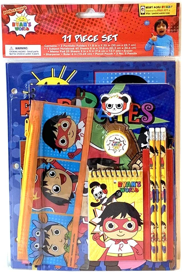 Innovative Max 87% OFF Designs Ryan's World School Phoenix Mall Supplies Set Pencil with