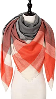 Women Scarf Plaid Warm Cashmere Scarves Shawls Female Pashmina Scarf Lady Blanket Wraps