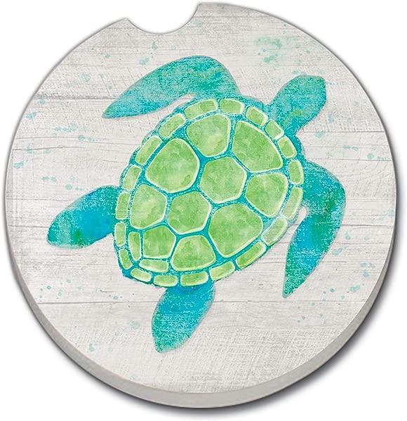 Counterart Absorbent Stoneware Single Car Coaster Sea Life Turtle
