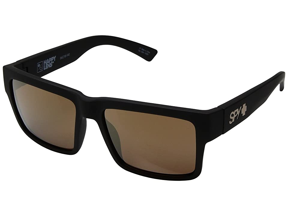 Spy Optic Montana (Soft Matte Black/Happy Bronze/Gold Mirror) Plastic Frame Sport Sunglasses