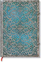 Maya Blue Journal: Unlined Grande (Silver Filigree Collection)