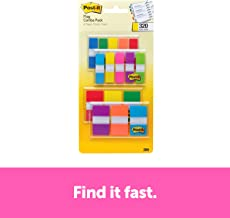 Post-it Flags Assorted Color Combo Pack, 320 Flags Total, 200 1-Inch Wide Flags and 120..