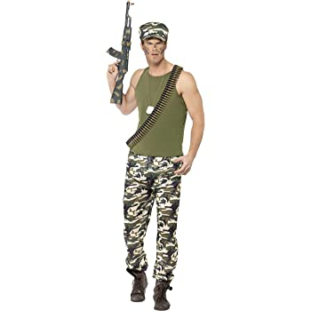 Smiffy s 44659 X L hombres del ejército disfraz (X-Large): Amazon ...