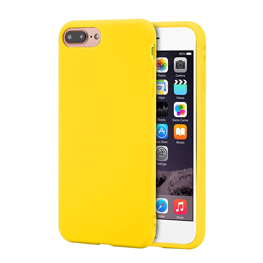 iPhone 7 Plus Case,iPhone 8 Plus Case,TOWID Slim Fit Shell Ultra-Thin,Shockproof & Soft Premium Matte TPU Protect Cover for iPhone 7 Plus /8 Plus (5.5'') Yellow