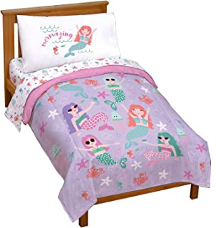 Jay Franco Trend Collector Mermaizing 4 Piece Toddler Bed Set - Includes Comforter & Sheet Set - Super Soft Fade Resistant...