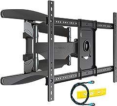 Invision Soporte de Pared para TV Ultra Fuerte – Para Pantallas Curvo Plasma LCD LED 94-178cm (37-70 Pulgadas) Doble Brazo Giratorio Inclinable, Con Cable HDMI 1080p y Nivel de Burbuja (HDTV-DXL)