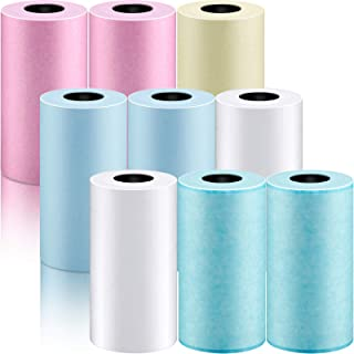 9 Piece Glossy Printable Sticker Paper Thermal Paper Mini Film Photo Printer Paper Direct Thermal Paper for Pocket Mobile ...