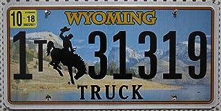 US Nummernschild WYOMING Kennzeichen # Rodeo Cowboy Motiv # USA Auto   Schild