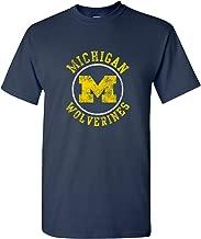 NCAA Distressed Circle Logo, Team Color T Shirt, College, University