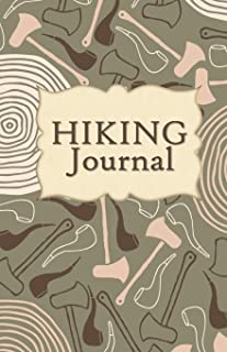 Hiking Journal: Hike Log Book - 50 Hikes - Compact Hiking Notebook (Outdoor Journal - Travelers Notebook -  for Boy Scouts or Girl Scouts and Hikers - Tree Rings