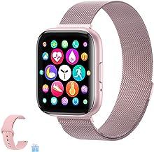 2020 ساعت هوشمند ارتقا یافته ، ردیاب تناسب اندام با مانیتور ضربان قلب / خواب / مراحل سازگار برای iPhone Samsung Android ، ساعت هوشمند بلوتوث برای زنان