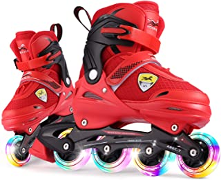 Sponsored Ad - Casulo Light-up Inline Skates for Adults Kids, Beginner Roller Skates Rollerblades 4 Sizes Adjustable with ...