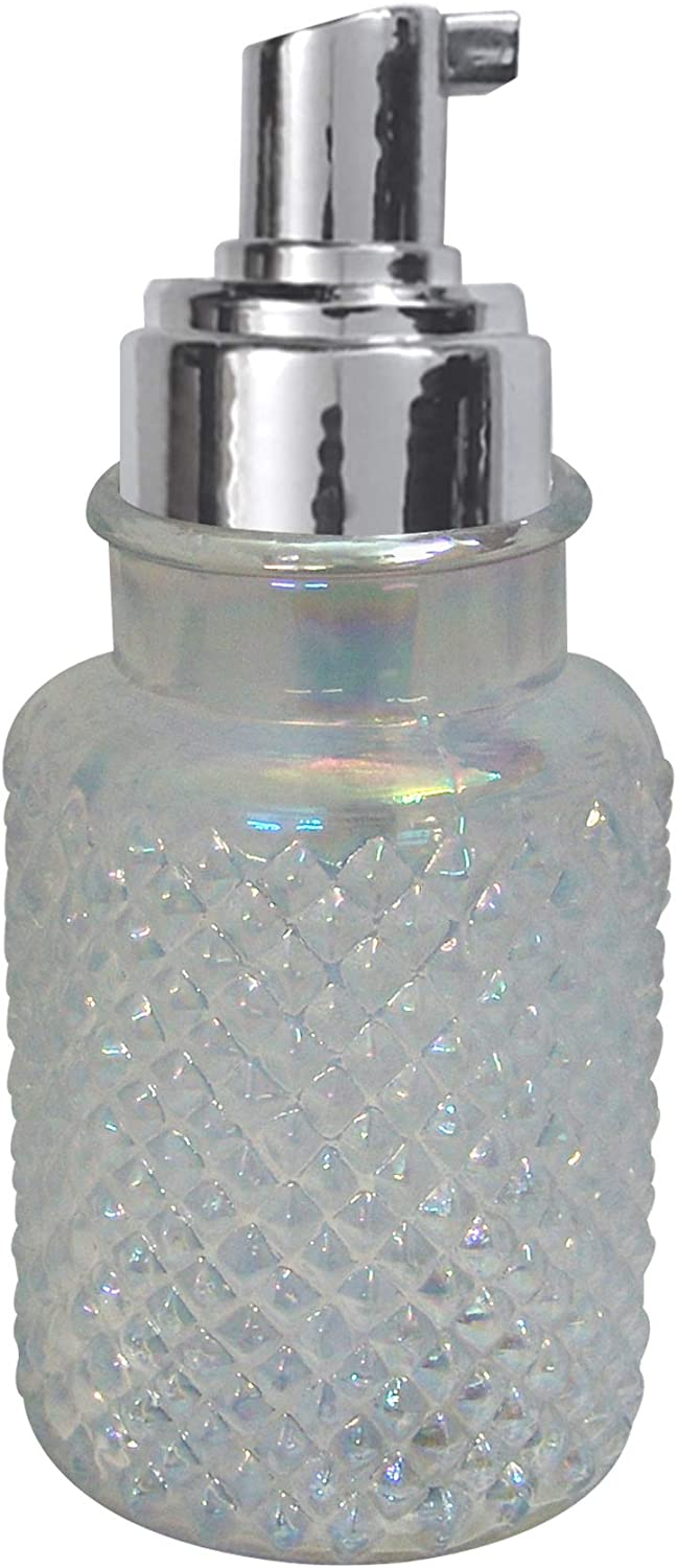 nu steel Clear New item Glass Refillable Foaming Dispenser Soap Hand Max 85% OFF Pump