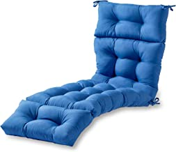 Greendale Home Fashions 72-Inch Indoor/Outdoor Chaise Lounger Cushion, Marine Blue