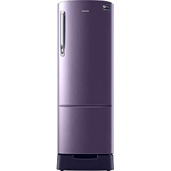 Samsung 230 L 3 Star Inverter Direct Cool Single Door Refrigerator(RR24T285YCR/NL, Camellia Purple, Base Stand with Drawer)