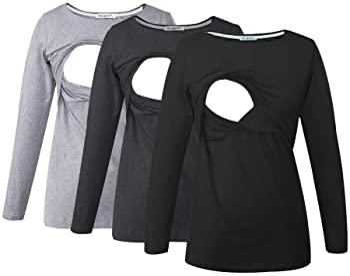 Sweater for breastfeeding mom Nursing long sleeve Breastfeeding sweatshirt Raglan for discreet breastfeeding