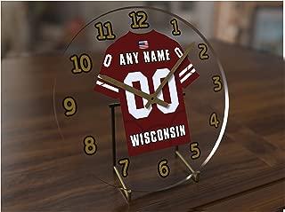 FanPlastic BIG10 Ten Conference College Football - Personalized Desktop Clocks - Size 7