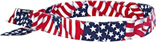 ERGODYNE CHILL-ITS 6705 EVAPORATIVE COOLING HOOK BANDANA - STARS/STRIPES Pack 2
