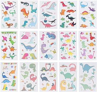 Beaupretty 1 Set Kinderen Tijdelijke Tattoo Stickers Dinosaurus Transfer Stickers Dino Body Art Been Arm Decals Voor Meisj...