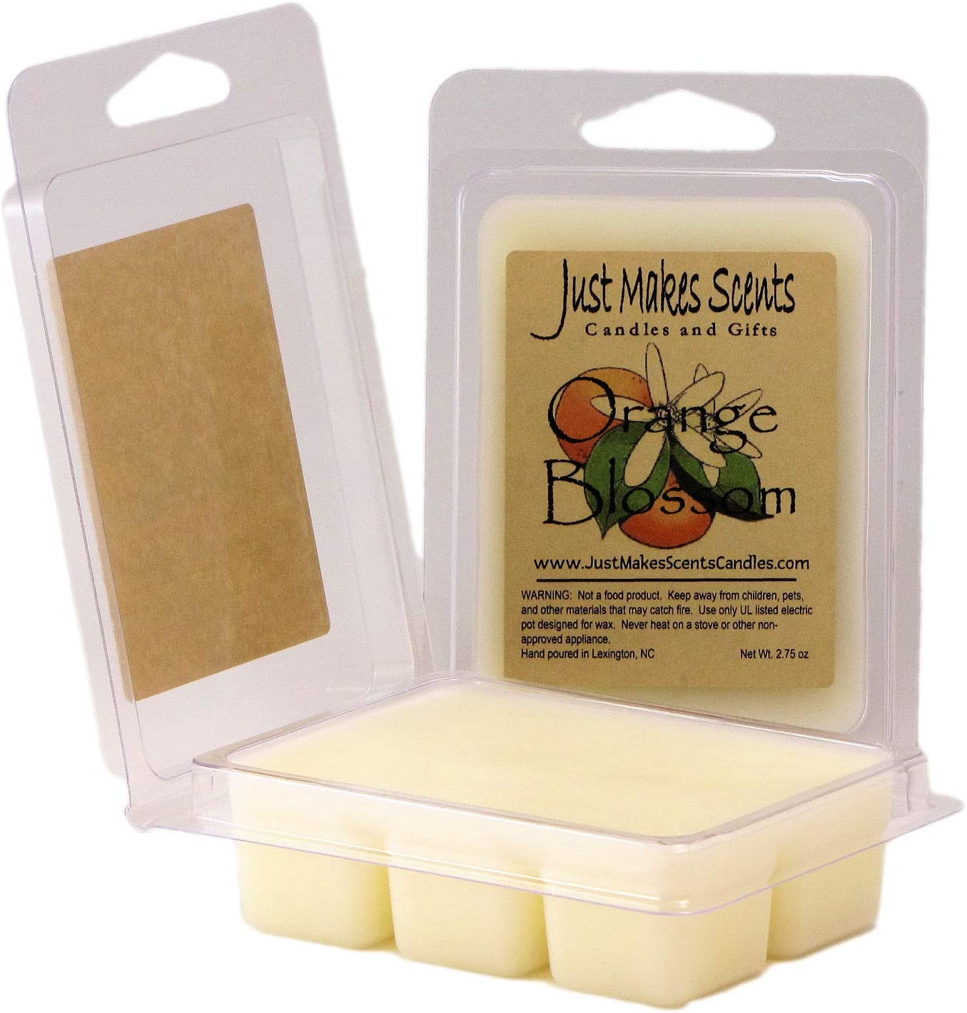 Orange Cedar Wax Melts Strong Scented Natural Wax Melts Wax Tarts with Orange Scent Orange Wax Melts with a Cedar Scent