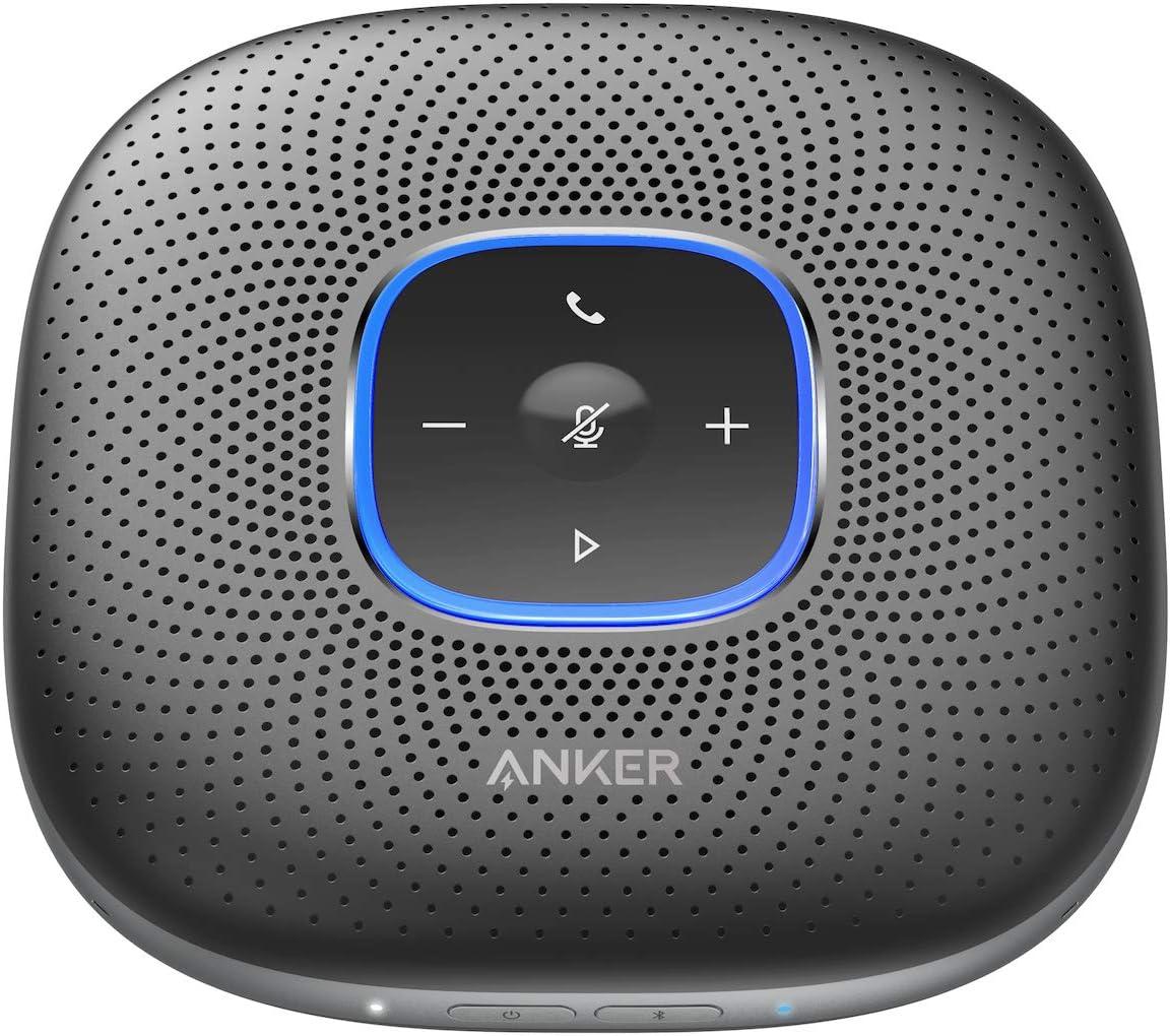 Anker PowerConf Bluetooth Speakerphone, 6 Mics, Enhanced Voice Pickup, 24H Call