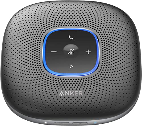 2021 Anker PowerConf Bluetooth Speakerphone, 6 2021 Mics, Enhanced Voice Pickup, 24H high quality Call Time, Bluetooth 5, USB C, Zoom Certified Bluetooth Conference Speaker, Compatible with Leading Platforms For Home Office outlet sale