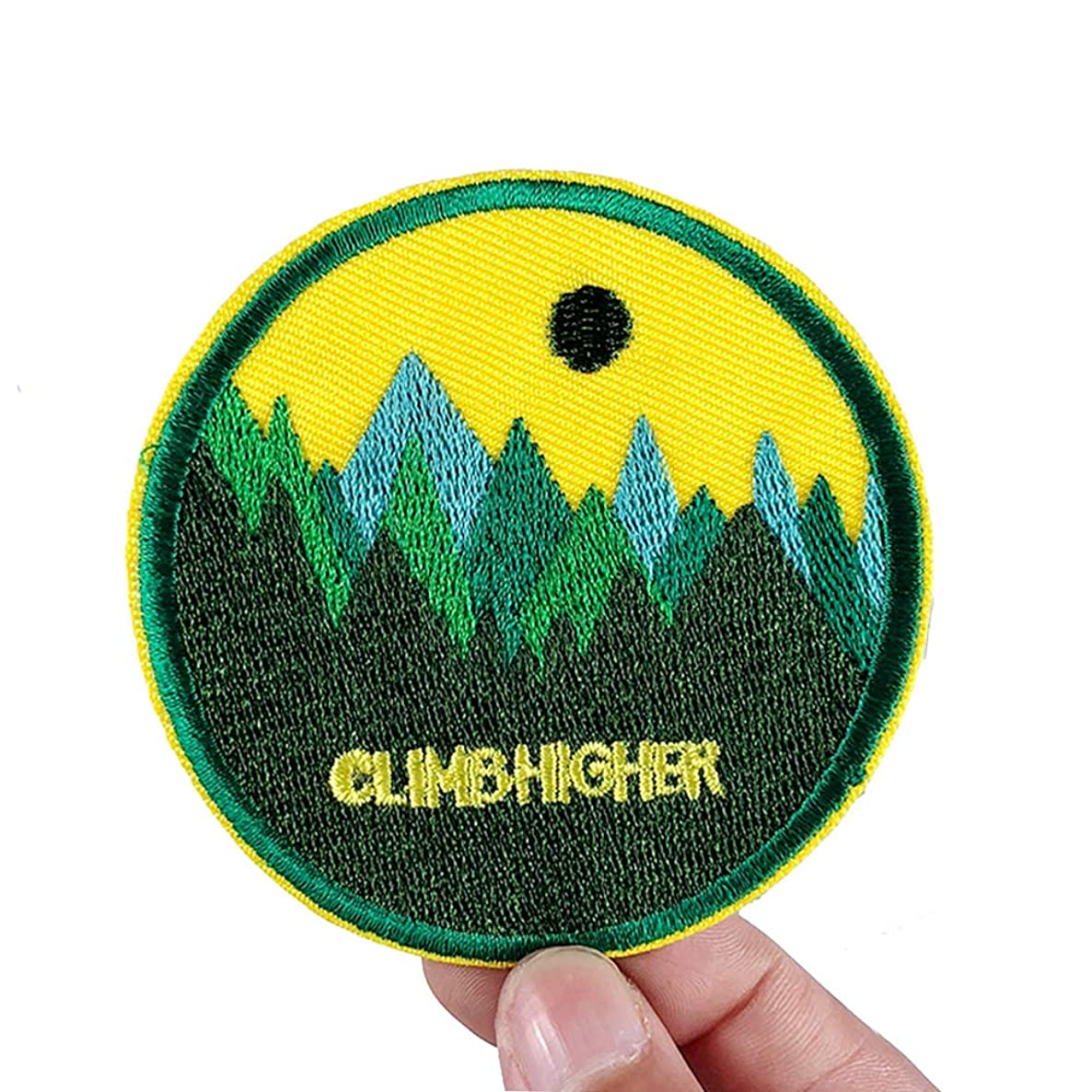 2 Pcs Climb Higher Delicate Embroidered Patches, Cute Embroidery Patches, Iron On Patches, Sew On Applique Patch,Cool Patches for Men, Women, Kids