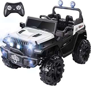 METAKOO Ride On Truck Two/Four Wheel Drive, Kids Electric Truck 12V 10Ah with Remote Control, Double Open Doors, Five Poin...