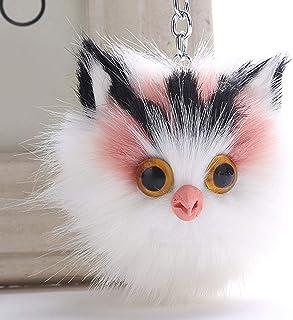 Luxurious Well Made 1X Kawaii Cute Kitten Plush Fluffy Keyring Bag Pendant Pompom Key Chain,Colour Name:Sapphire Blue (Col...