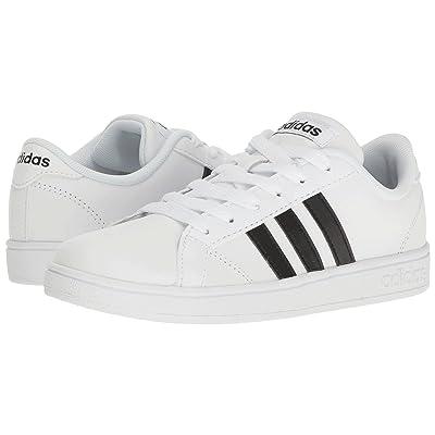 adidas Kids Baseline (Little Kid/Big Kid) (White/Black/White) Kids Shoes