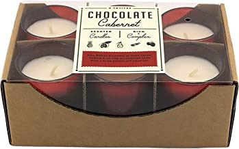 HAVEN Street Candle Co. Six Scented Glass Votives Candle Chocolate Cabernet