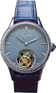 Sugess - SU8000LSBE Tourbillon Master Gaviota ST8000 Movimiento Zafiro Cristal Señoras Mecánico Vestido de Negocios Reloj de Lujo