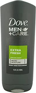 Dove Men+Care Body and Face Wash, Extra Fresh, 13.5 Fl. Oz (Pack of 1)