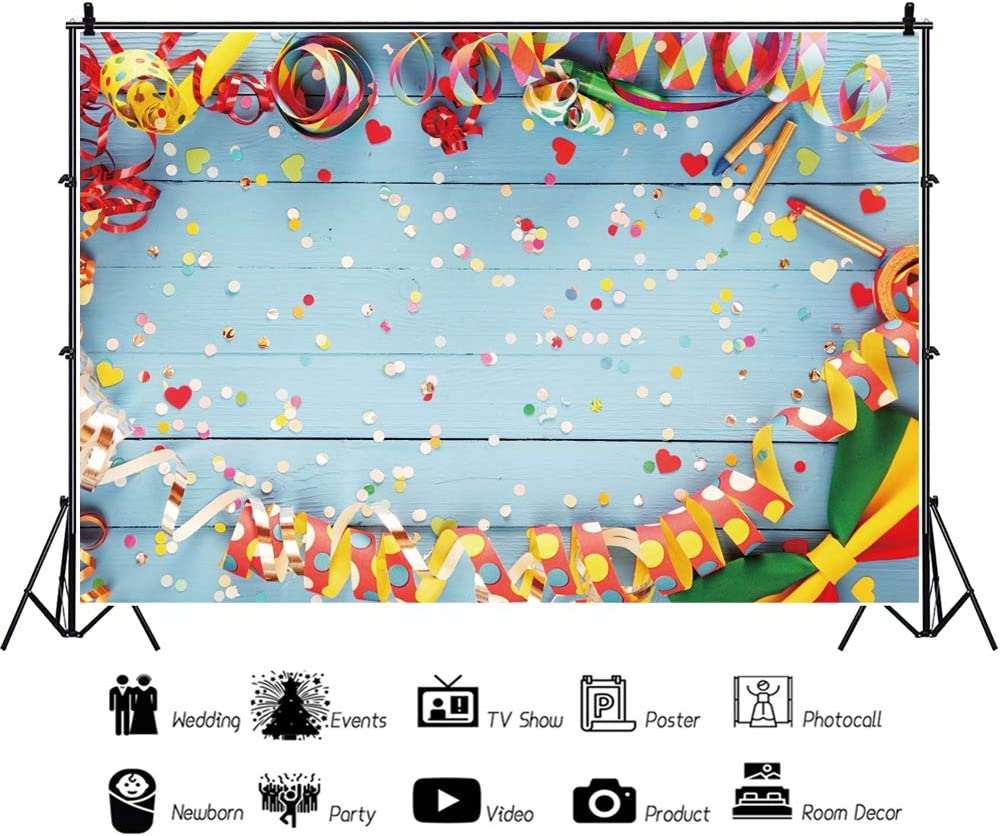 Ying Yang 10x15 FT Backdrop Photographers,Rainbow Color Confetti Effect Graphic Design on Ying Yang Sign Themed Peace Background for Photography Kids Adult Photo Booth Video Shoot Vinyl Studio Props