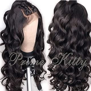 9A Brazilian Virgin Human Hair Wig for Black Women 180% Density Glueless Full Lace Wigs Human Hair with Baby Hair Body Wave Full Lace Human Hair Wigs Curly Full Lace Wig Wavy 22