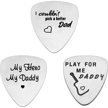 Lot de 3 médiators pour guitare en acier inoxydable