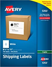 Avery Full-Sheet Labels for Copiers, 8-1/2