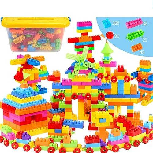 WJX Kit de Blocs de Construction, Construction Briques Tout-Petits, Formation Construction ingénierie Blocs d'apprentissage Ensemble pour Les Garçons et Les Filles, Jouet pour Enfants,B