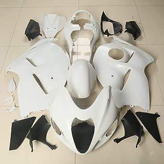 XMT-MOTO Bodywork Fairing Kit fits for Suzuki Hayabusa GSX1300R GSXR 1300 1997-2007,Unpainted White